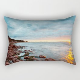 Fiery sunset Rectangular Pillow