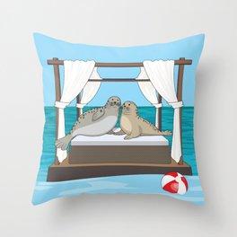 Seally LOVE Throw Pillow