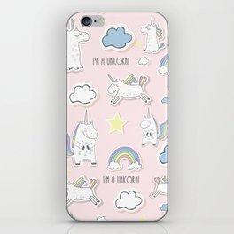 I'm a Unicorn - light pink iPhone Skin