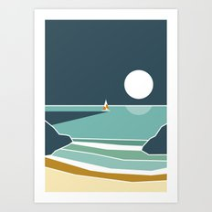 Waves on the beach Art Print