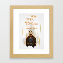 Merlin: Myth and Magic Framed Art Print