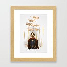 Merlin: Myth and Magic Framed Art Print