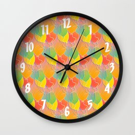 Multicolored Balloons Pattern Wall Clock
