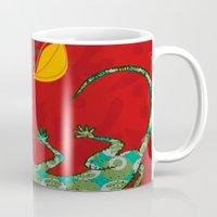lizard Mugs featuring Lizard by Agustina Echarry