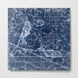 Pisces sky star map Metal Print