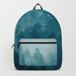 Misty Pine Forest Backpack