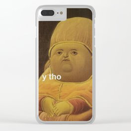Y Tho Meme Clear iPhone Case