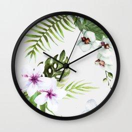 Tropical Serenity #society6 Wall Clock