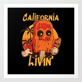 California Livin' Ice Cream Art Print