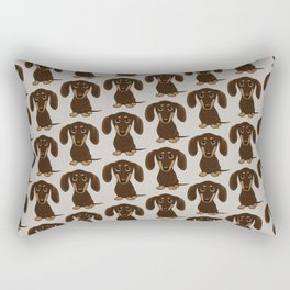 Chocolate Dachshund Rectangular Pillow