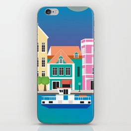 Curacao - Skyline Illustration by Loose Petals iPhone Skin