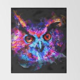 owl purple blue perfect Throw Blanket