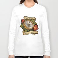 compass Long Sleeve T-shirts featuring Compass by hvelge
