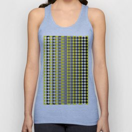 Lines and Squares Unisex Tank Top