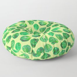 Brussel sprouts pattern for veggie lovers Floor Pillow