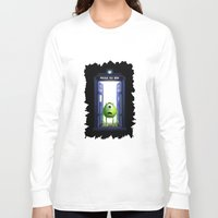 monster inc Long Sleeve T-shirts featuring Tardis Monster inc by DavinciArt