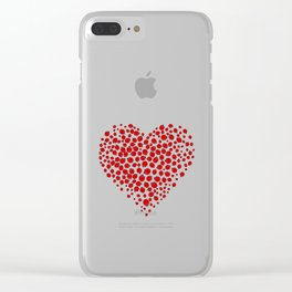 Ladybug heart Clear iPhone Case