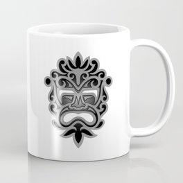 Stylish Gray and Black Mayan Mask Coffee Mug