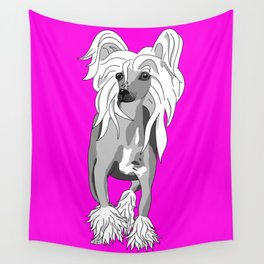 Sassy Chinese Crested Wall Tapestry