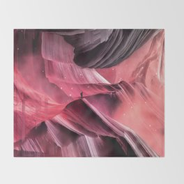 Return to a place never seen Throw Blanket