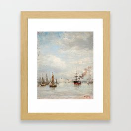 OSCAR KLEINEH, HARBOUR VIEW Framed Art Print
