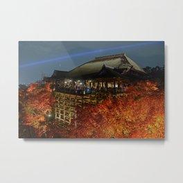 Kiyomizudera Autumn Metal Print