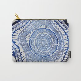 Growth Rings – 65 Years – Navy Carry-All Pouch