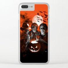 Freddy Krueger Jason Voorhees Michael Myers Super Villians Holiday Clear iPhone Case