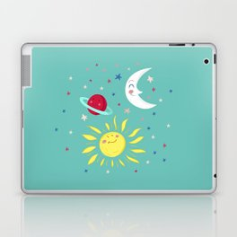 Moon, Sun, Planets and Stars Laptop & iPad Skin