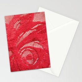 red lace Stationery Cards