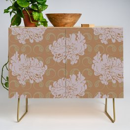 Chrysanthemums and Paisley 2 Credenza