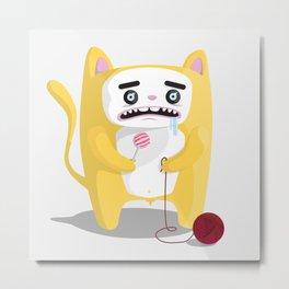 Miu-Miu the Cat Metal Print