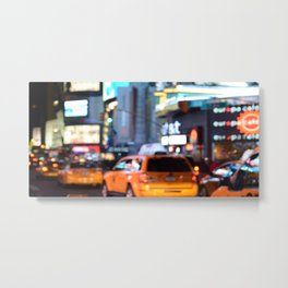 Yellow Cabs at Time Square in New York Metal Print