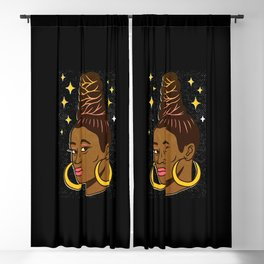 Tierra whack woman Blackout Curtain