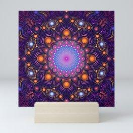 """""""Guardian"""" Mandala painting Mini Art Print"""