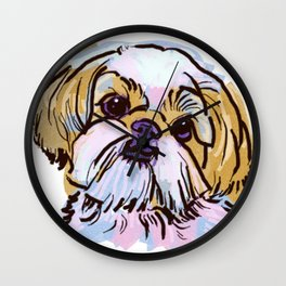 The Shih Tzu always keeps me smiling! Wall Clock