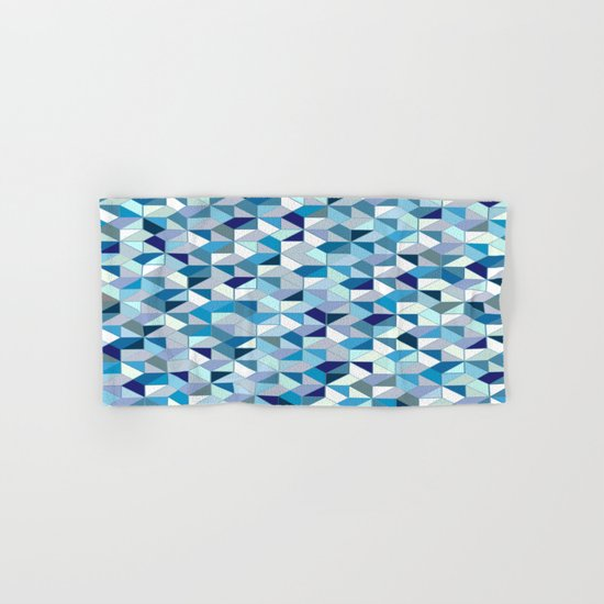 Geometrica (blue) Hand & Bath Towel