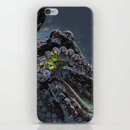 """Release the Kraken"" - Giant Octopus Digital Illustration iPhone Skin"