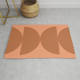 Abstraction Shapes 17 in Terracotta Shades (Moon Phase Abstract)  Rug