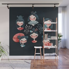 Japanese girls Wall Mural