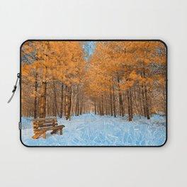 Burning Ice Forest Trail Laptop Sleeve