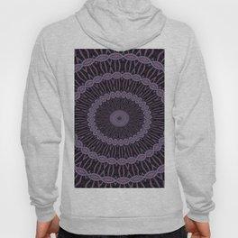 Lilac And Purple Circles Double Helix Mandala Pattern Hoody