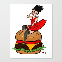 Hamburger Hottie Canvas Print