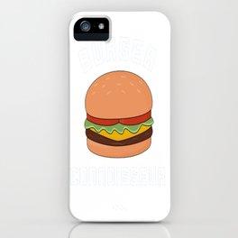 Burger Connoisseur iPhone Case