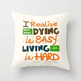 IF I STAY: I Realise Throw Pillow
