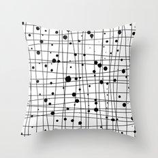 Woven Web black and white Throw Pillow