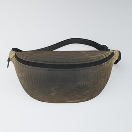 Marble's geometric tunnel in pearl color Fanny Pack