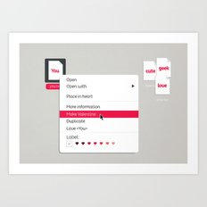 Make Valentine Art Print