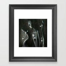 Hole Shaped God Framed Art Print