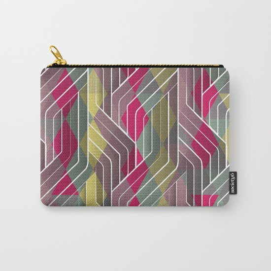 Decorative Pattern Triangles Carry-All Pouch